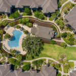 Brookview at Citrus Park Clubhouse and Pool Aerial
